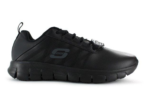 Sporty style, all day safety and comfort comes with the SKECHERS Work Relaxed Fit: Sure Track - Erath...