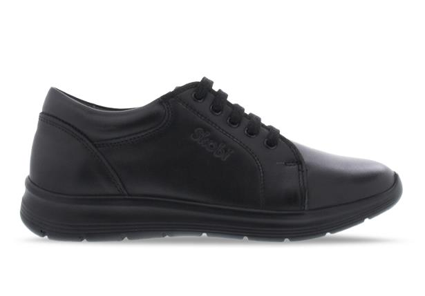 The Skobi Holt Senior school shoe is part of the simple range which offers minimal internal stitching...