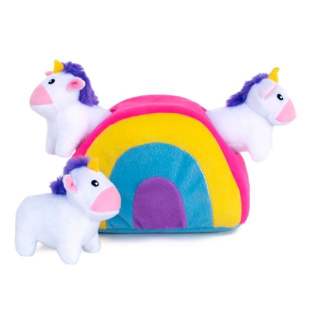 zippypaws unicorn rainbow burrow soft dog toy  each | ZippyPaws dog toy&accessories | pet supplies|...