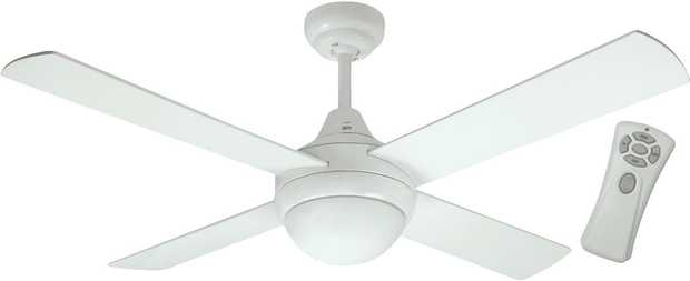 This Mercator ceiling fan's 1200mm blade diameter allows you to match cooling capabilities to the size...