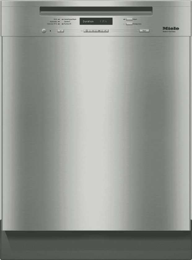 This Miele dishwasher's 15 place setting capacity allows you to keep lots of dishes clean. It has a 5.5...