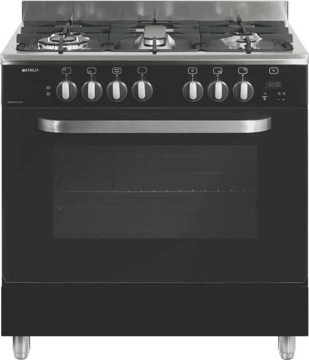 This Emilia upright cooker features an LP Gas powered oven. Its 5 burners help you cook multiple dishes...