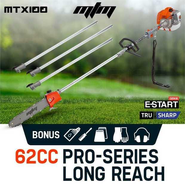 TheMTX-SERIES 62CC Pole Sawis the ultimate gardening machine. Utilising premium anodized...