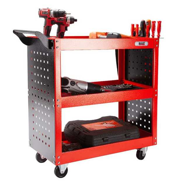 The BULLET 3-Tier Steel Tool Cart is a must-have for tackling jobs anywhere around your garage...