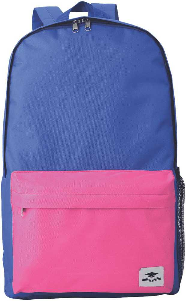 This Encore Burley Essentials Backpack TG03VP in violet and pink is a lightweight kids backpack in 600D...