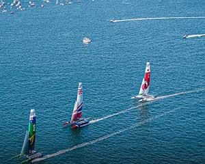 Be at the heart of the action onboard Official SailGP Spectator Boats. Get onboard with an On-Water Go...