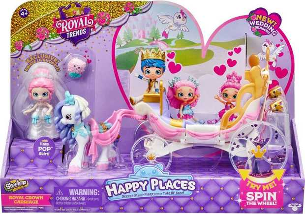 Happy Places Shopkins S8 Royal Crown Carriage