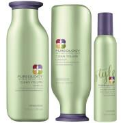 Clean Volume sulfate-free Shampoo & Conditioner:  Volumise fine, color-treated hair with Pureology's...