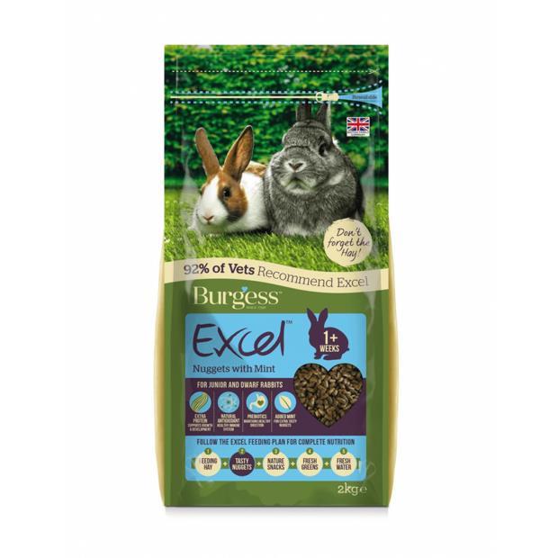 burgess excel rabbit nuggets mint junior dwarf rabbits  4kg | Burgess food | pet supplies| Product...
