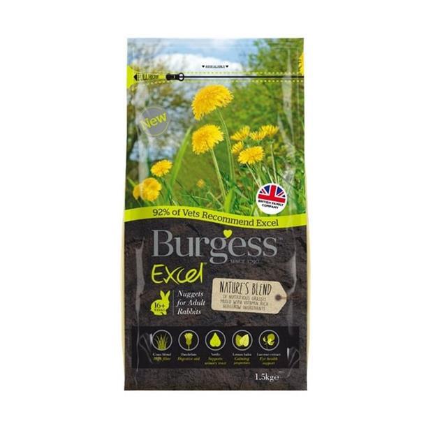 burgess excel natures blend rabbit nuggets  1.5kg | Burgess food | pet supplies| Product Information:...
