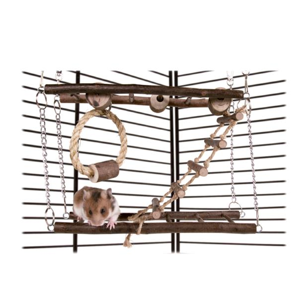 trixie natwood rodent 2 storey suspended bridge  each | Trixie | pet supplies| Product Information:...