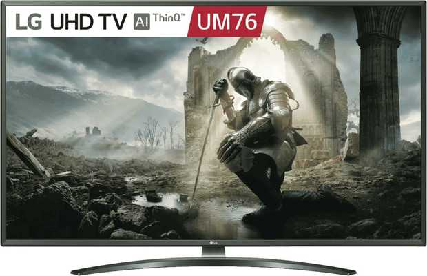 This LG TV's 50-inch screen allows you to catch every detail from far away. It has an LED display. You...