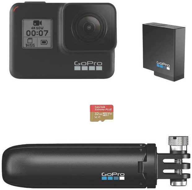 Built with outdoor enthusiasts in mind, the masterfully designed camera GoPro Hero7 comes with a shorty...