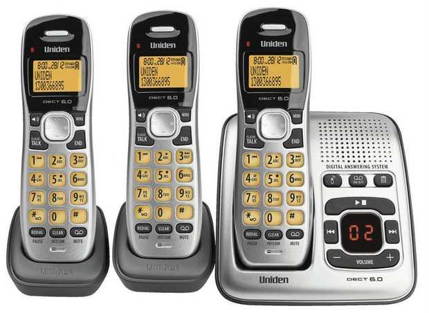 Designed & Engineered in Japan DECT Digital Technology Phone System Orange Backlit LCD Display Wireless...