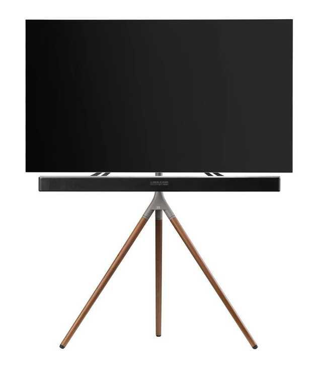 """For QLED/OLED/LED TV's up to 65"""" Height adjustable & 360° rotation Including universal soundbar holder..."""