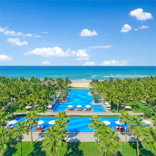 Relax with a blissful beachfront escape at Vinpearl Luxury Da Nang, on the spectacular stretch of coast...