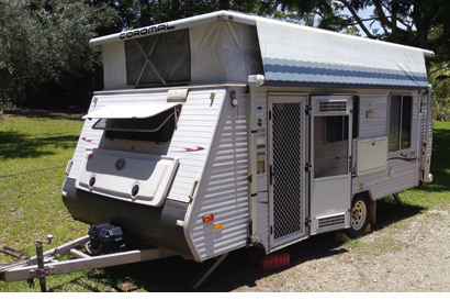 17' Coromal Pop-Top Excel 511, island bed, aircon, m/wve, new awning, gc, many annexe extras...