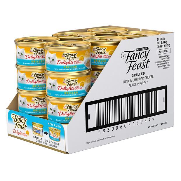 fancy feast delights with cheddar tuna wet cat food  24 x 85g | Fancy Feast cat food | pet supplies|...