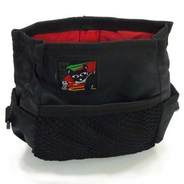 Black Dog Treat & Training Tote Bag with Adjustable Belt - Black