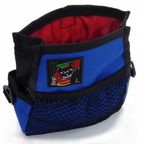 Black Dog Treat & Training Tote Bag with Adjustable Belt - Blue