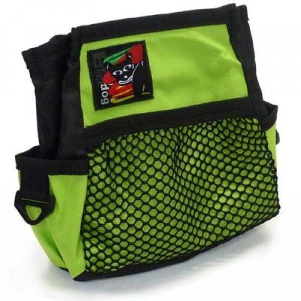 Black Dog Treat & Training Tote Bag with Adjustable Belt - Green