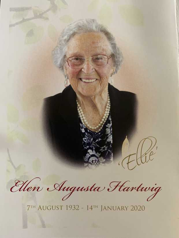 The family of the late Ellen Hartwig would like to extend their thanks for the many expressions of love...
