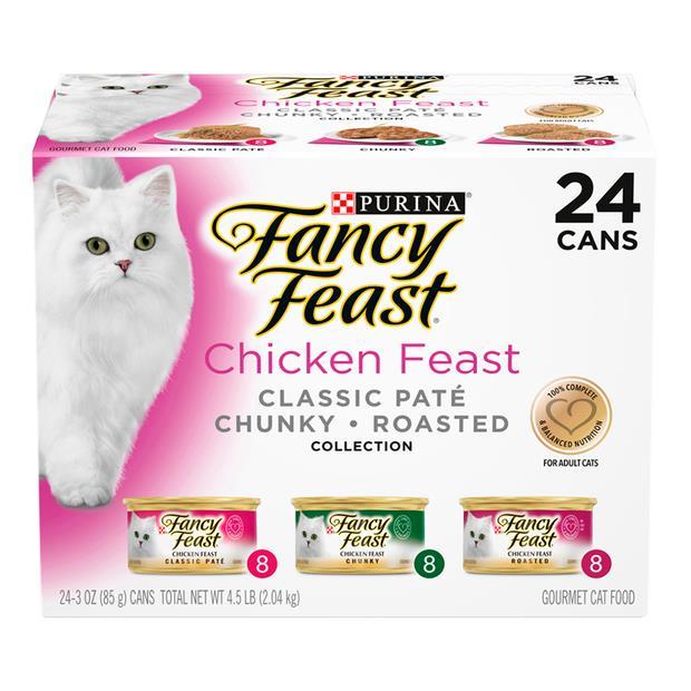 fancy feast variety pack chicken wet cat food  24 x 85g | Fancy Feast cat food | pet supplies| Product...
