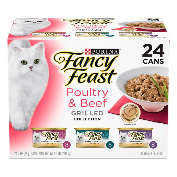 fancy feast variety pack classic beef poultry grilled wet cat food  24 x 85g | Fancy Feast cat food |...