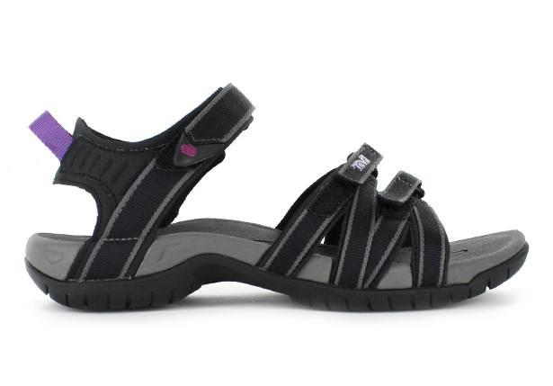 The TEVA Tirra Womens Black Grey is a casual sandal featuring adjustable straps suitable for most foot...