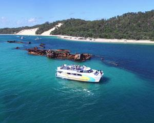 Explore tropical paradise on an ecotour of Moreton Bay Marine Park, where youll discover crystal clear...