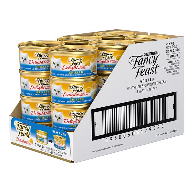 fancy feast delights with cheddar whitefish wet cat food  24 x 85g | Fancy Feast cat food | pet...