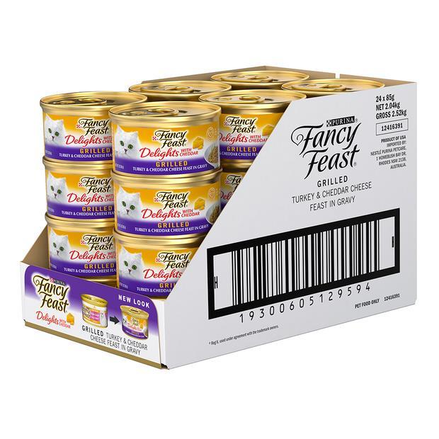 fancy feast grilled turkey in gravy wet cat food  24 x 85g | Fancy Feast cat food | pet supplies|...