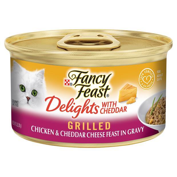 fancy feast delights with cheddar chicken wet cat food  24 x 85g | Fancy Feast cat food | pet supplies|...