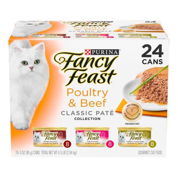 fancy feast variety pack poultry beef pate wet cat food  24 x 85g | Fancy Feast cat food | pet...