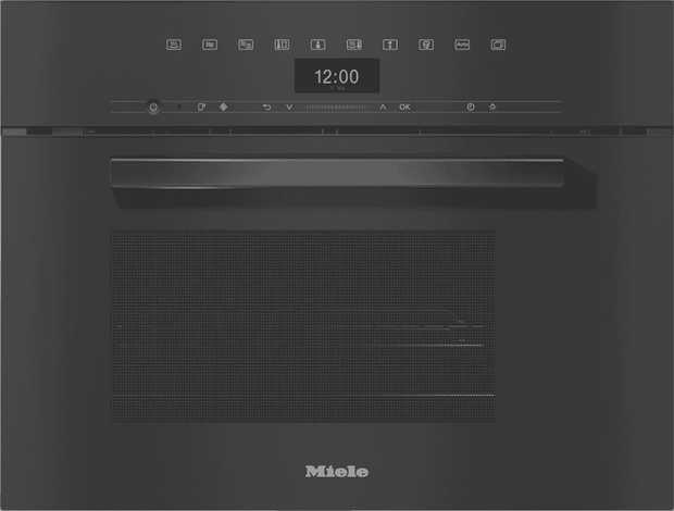 Discover combination cooking with this Miele DGM7440 VitroLine Steam Microwave Oven in Obsidian Black.