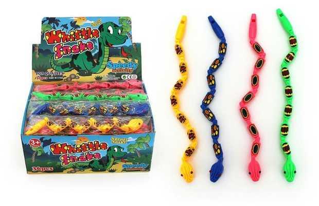 Bendy Snake Whistle - 31Cm Assorted