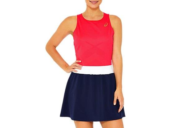Power every shot in the TENNIS SKORT with mesh waistband and yoke for breathability. This woven skirt...