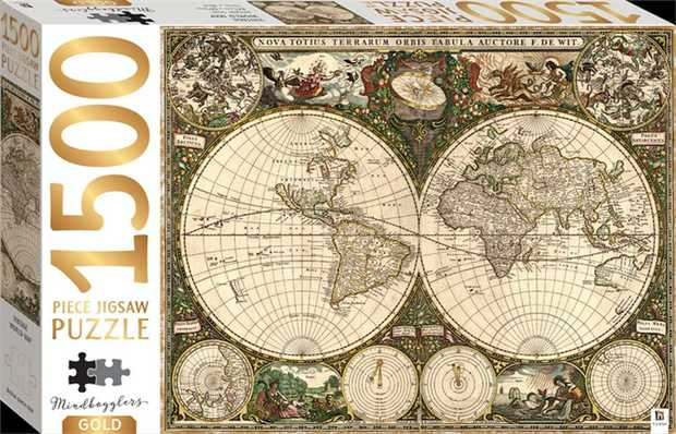 Mindbogglers Gold 1500-piece puzzles feature high-quality images accented with stunning gold...