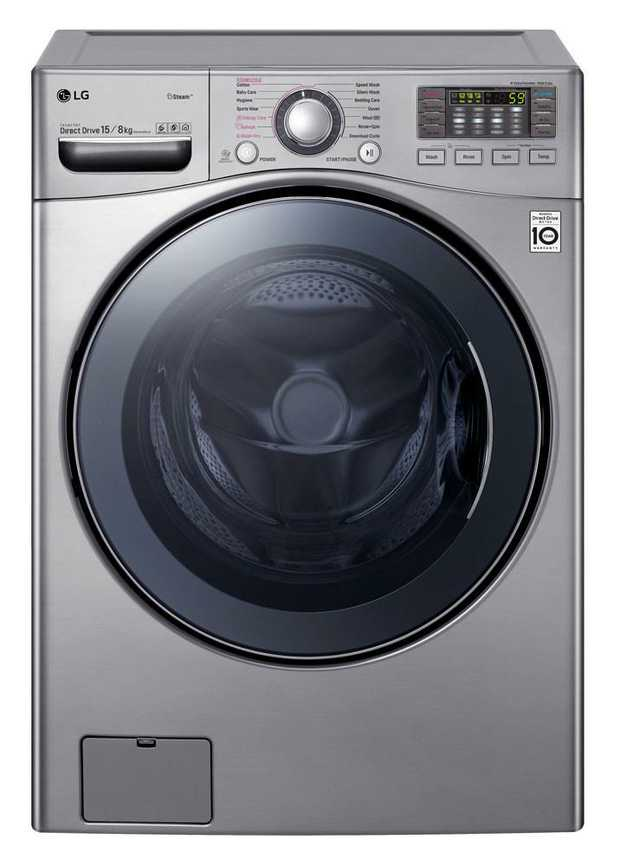 14 Wash Programs 1000rpm Max Spin Speed TrueSteam® TurboClean™¹ 6 Motion Wash Technology Smart ThinQ™...