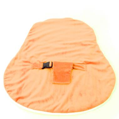 Newborn Collection Accessories - Velvet Cover With Harness Orange