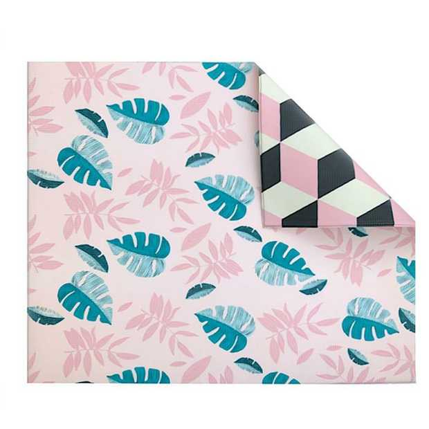 Play With Pieces Pink Leaf/Geo Play Mat