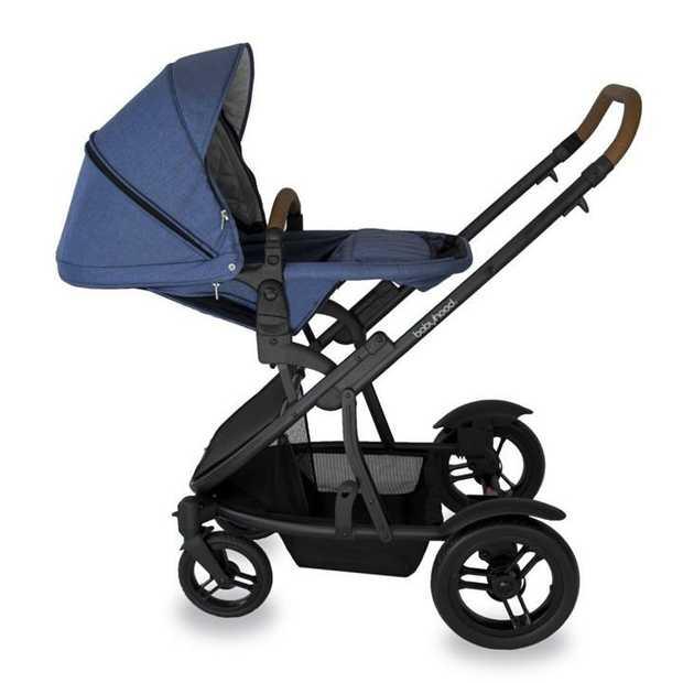 2018 Babyhood Doppio Inline Stroller - Silver Fram [Colour: Blue]