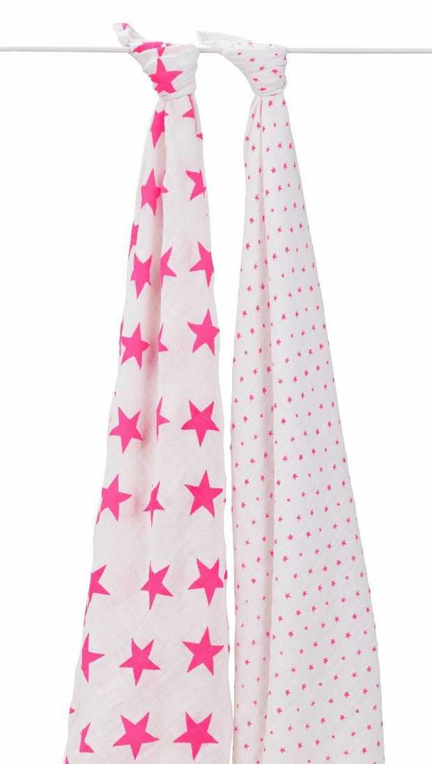 Aden And Anais Fluro Pink 2 Pack Classic Swaddles