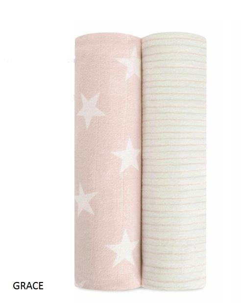 Aden And Anais Grace Fate 2 Pack Cosy Muslin Swaddles