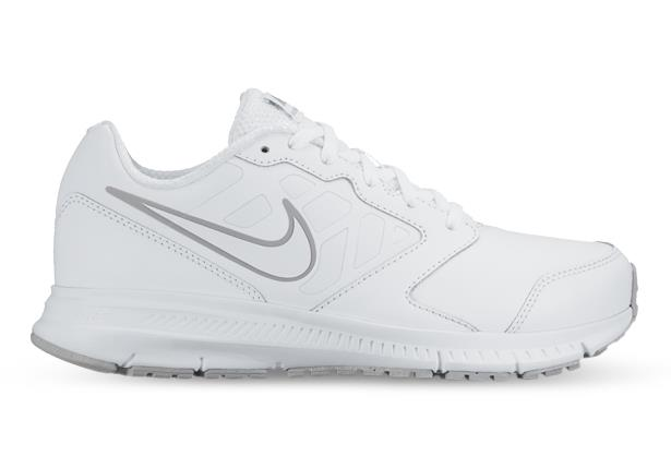 The Kid's Downshifter 6 white leather trainer is an all purpose training shoe for active kids with...