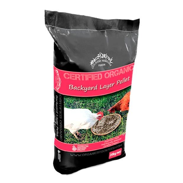 country heritage organic backyard layer pellets  20kg | Country Heritage food | pet supplies| Product...