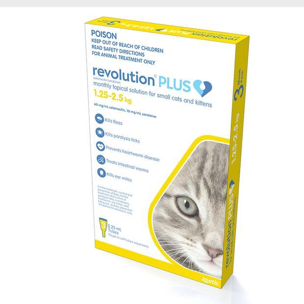 revolution plus yellow kitten and small cat  3 pack | Revolution cat Flea&Tick; Control | pet supplies|...