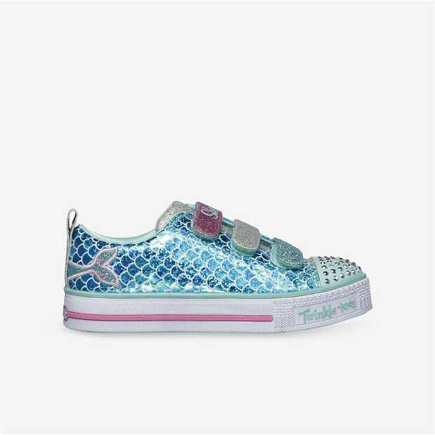 Tip the scales towards magically pretty style with the SKECHERS Twinkle Toes: Twinkle Lite - Sparkle...