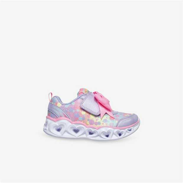Adorable styling inspires more love with the Skechers S Lights: Heart Lights - Sparkle Spark shoe. Soft...