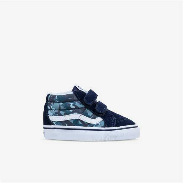 The Toddler Animal Camo Sk8-Mid Reissue V, a mid-top silhouette inspired by the iconic reissued Sk8-Hi...